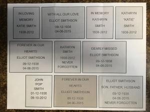 Memorial Brick Examples